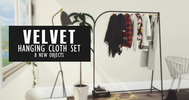 Velvet Hanging Clothes Set At Pyszny Design 187 Sims 4 Updates