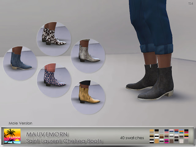MAUVEMORN Chelsea Boots Recolor Male version at Elfdor Sims image 1261 Sims 4 Updates