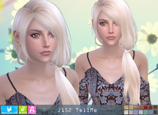 J152 TellMe hair (pay) at Newsea Sims 4 image 1265 670x491 Sims 4 Updates
