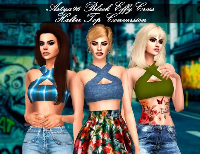 Black Effy Cross Halter Top Conversion at Astya96 image 1266 670x518 Sims 4 Updates