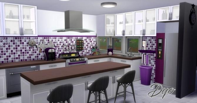 Sims 4 Set objects kitchen NSBC purple by Dyokabb at Les Sims4