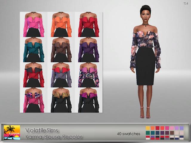 Volatile Karma Blouse Recolor at Elfdor Sims image 127 Sims 4 Updates