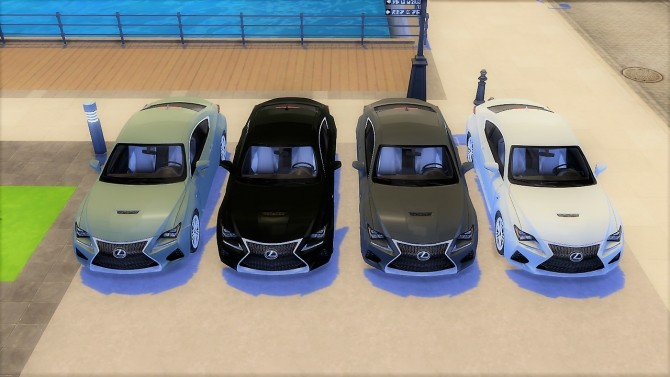 Sims 4 Lexus RC F at LorySims