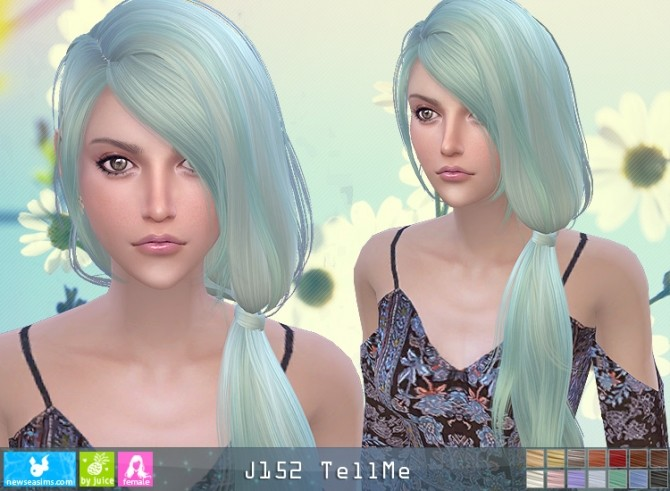 J152 TellMe hair (pay) at Newsea Sims 4 image 1275 670x491 Sims 4 Updates