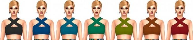 Sims 4 Black Effy Cross Halter Top Conversion at Astya96