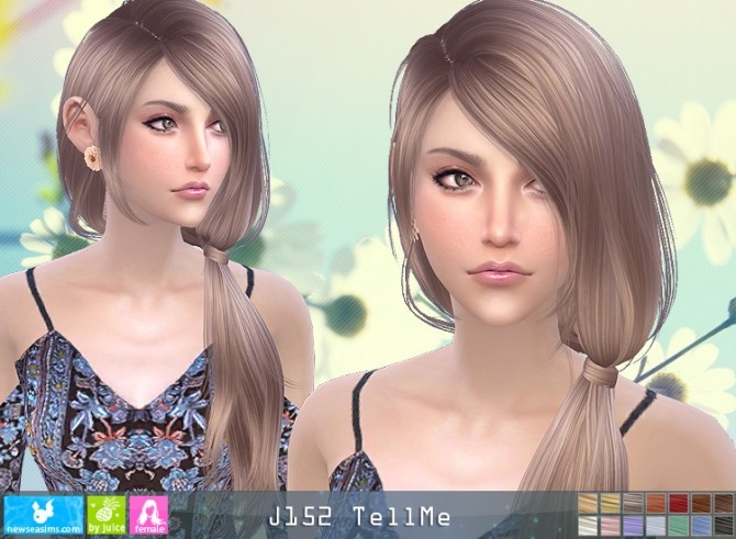 J152 TellMe hair (pay) at Newsea Sims 4 image 1285 670x491 Sims 4 Updates