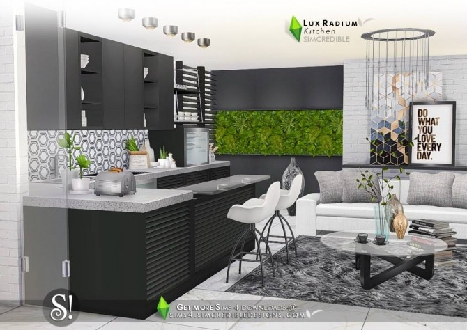 Lux radium kitchen at simcredible designs 4 sims 4 updates for Kitchen ideas sims 4