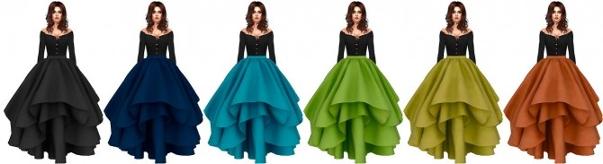 Sims 4 Kiolometro Unicorn Skirt Conversion at Astya96