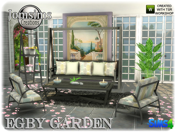 Sims 4 Egby garden set by jomsims at TSR