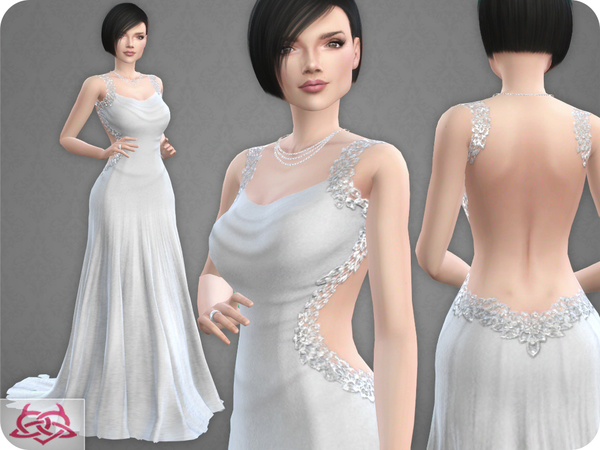 Wedding Dress 10 RECOLOR 3 by Colores Urbanos at TSR image 1314 Sims 4 Updates