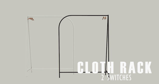 Sims 4 Velvet Hanging Clothes set at Pyszny Design