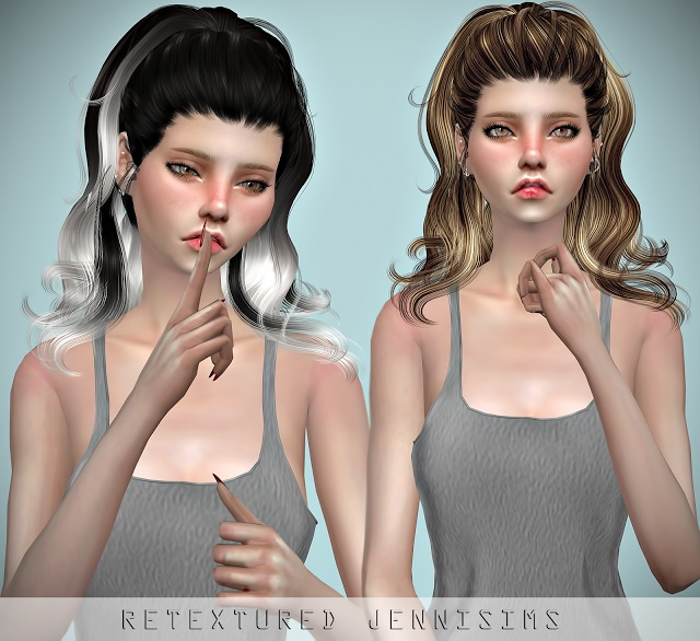 Sims 4 Newsea Yesenia Hair retexture at Jenni Sims