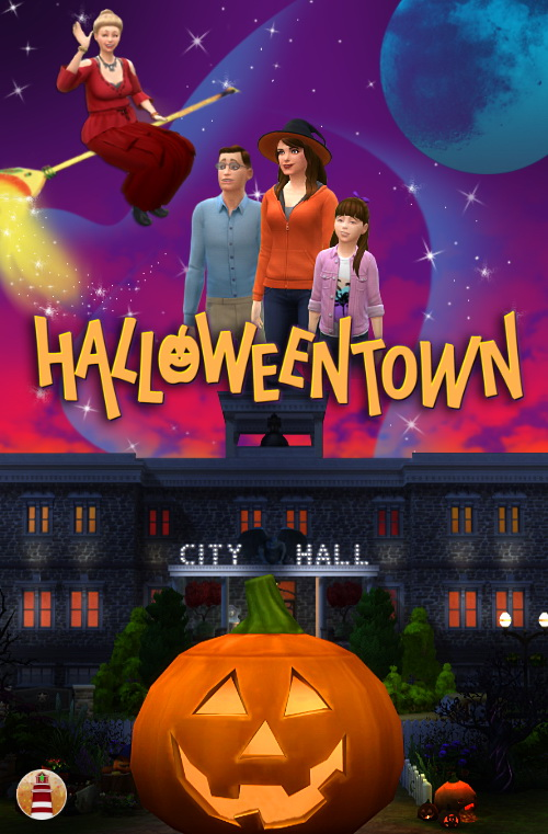 HALLOWEEN TOWN by Waterwoman at Akisima » Sims 4 Updates