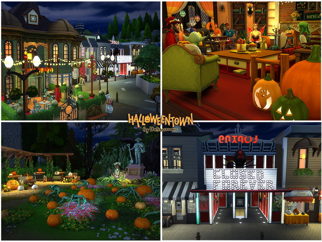 HALLOWEEN TOWN by Waterwoman at Akisima image 13610 Sims 4 Updates