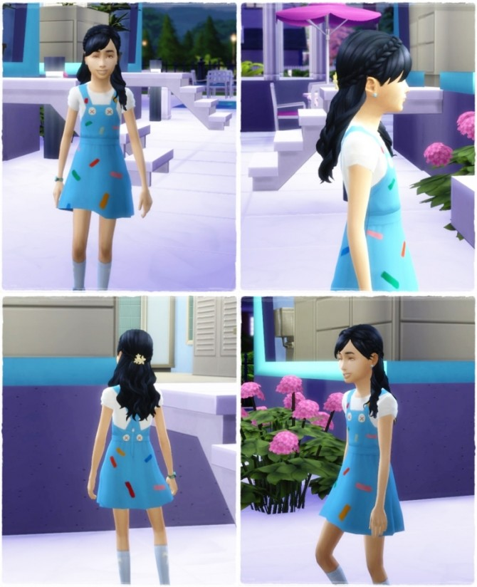 Sims 4 Indian Braid Girls at Birksches Sims Blog