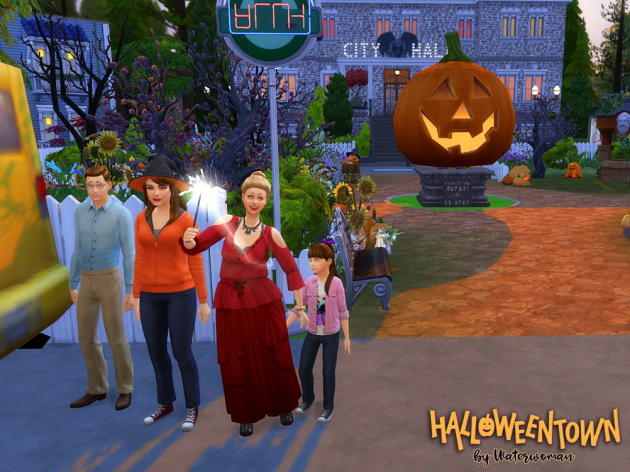 HALLOWEEN TOWN by Waterwoman at Akisima image 13711 Sims 4 Updates
