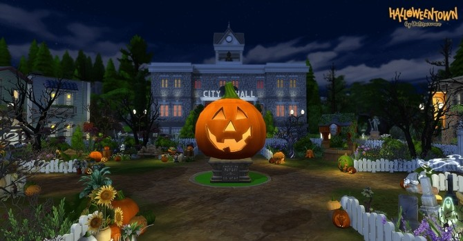 HALLOWEEN TOWN by Waterwoman at Akisima image 13810 670x349 Sims 4 Updates