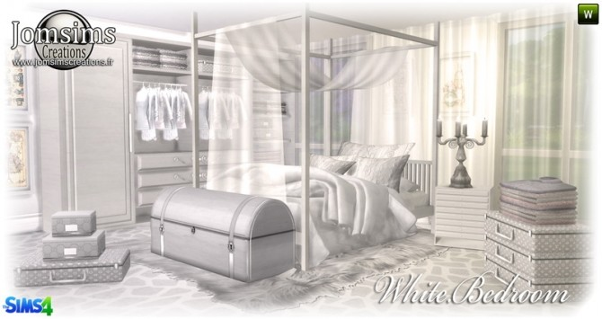 White Bedroom At Jomsims Creations 187 Sims 4 Updates