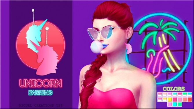 Sims 4 Unicorn Earrings at Victor Miguel