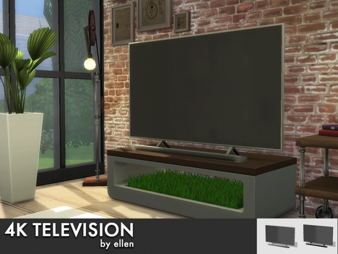 Sims 4 4k Television with and without soundbar at Simobjects by Ellen