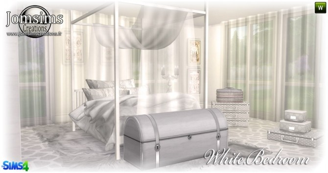 White bedroom at Jomsims Creations image 148 670x355 Sims 4 Updates