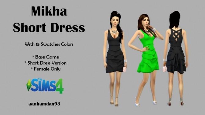 Sims 4 Chentil & Mikha Short Dress at Aan Hamdan Simmer93