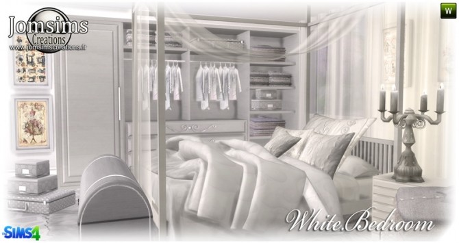 White bedroom at Jomsims Creations image 149 670x355 Sims 4 Updates