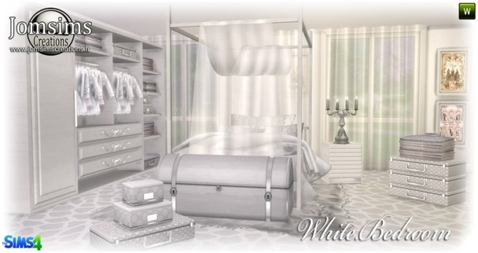 White bedroom at Jomsims Creations image 150 670x355 Sims 4 Updates