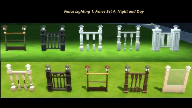 Sims 4 Light Me Up Fence, Gate and Garden Lights by Snowhaze at Mod The Sims