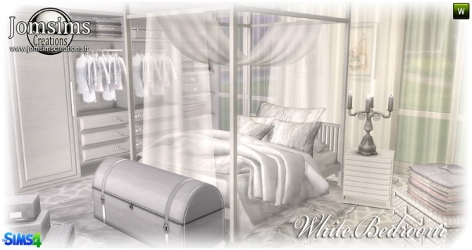 White bedroom at Jomsims Creations image 151 670x355 Sims 4 Updates