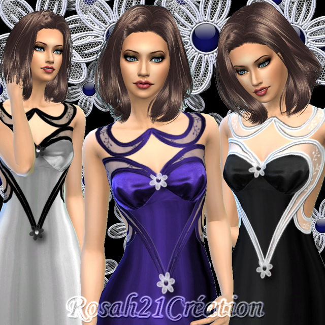 Nuit dhiver dress by Rosah at Sims Dentelle image 15115 Sims 4 Updates