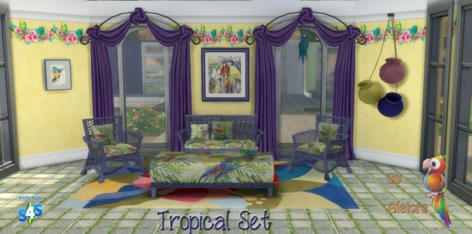 TROPICAL SET at Alelore Sims Blog image 152 670x333 Sims 4 Updates