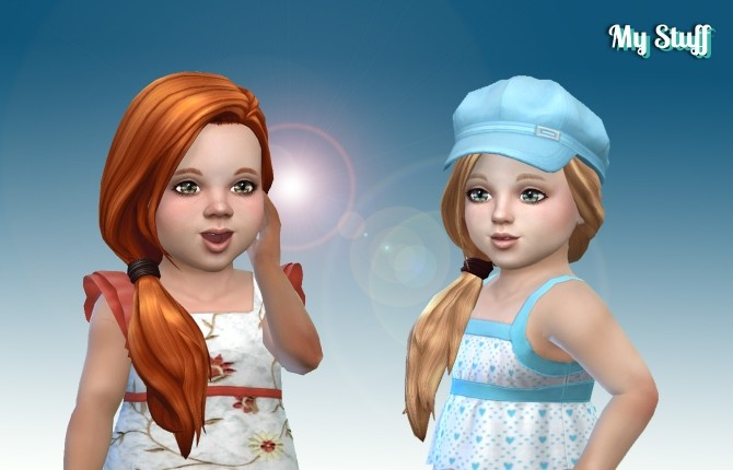 Sims 4 Side Pony Hair T at My Stuff