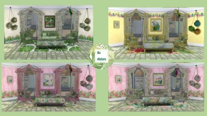 TROPICAL SET at Alelore Sims Blog image 153 670x377 Sims 4 Updates