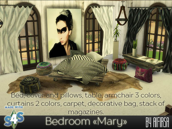 Sims 4 Mary bedroom at Aifirsa