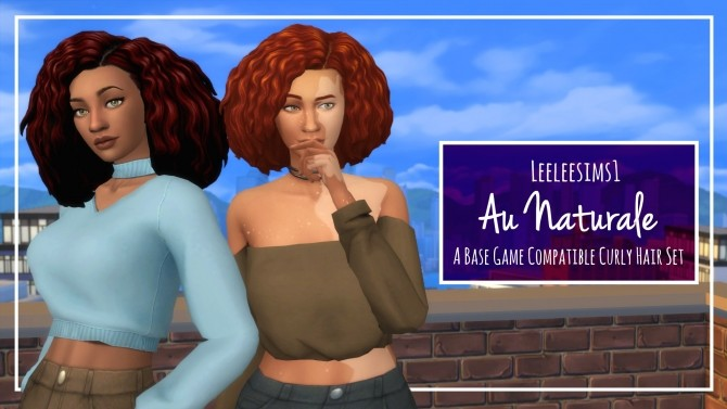 Au Naturale Curly Hair Set by leeleesims1 at SimsWorkshop image 15310 670x377 Sims 4 Updates