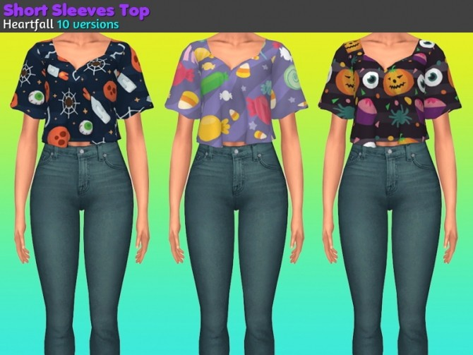 Sims 4 Halloween gift with lots of goodies at Heartfall