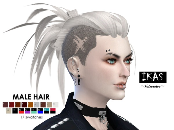 IKAS Hair style for MALE by Helsoseira at TSR image 1550 Sims 4 Updates