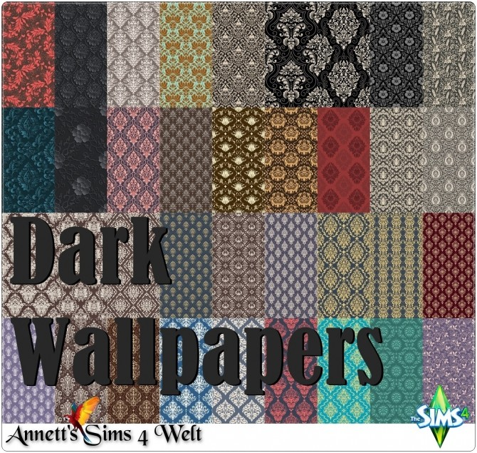 Dark Wallpapers at Annett's Sims 4 Welt image 1552 670x635 Sims 4 Updates