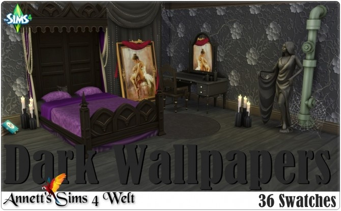 Dark Wallpapers at Annett's Sims 4 Welt image 1572 670x415 Sims 4 Updates