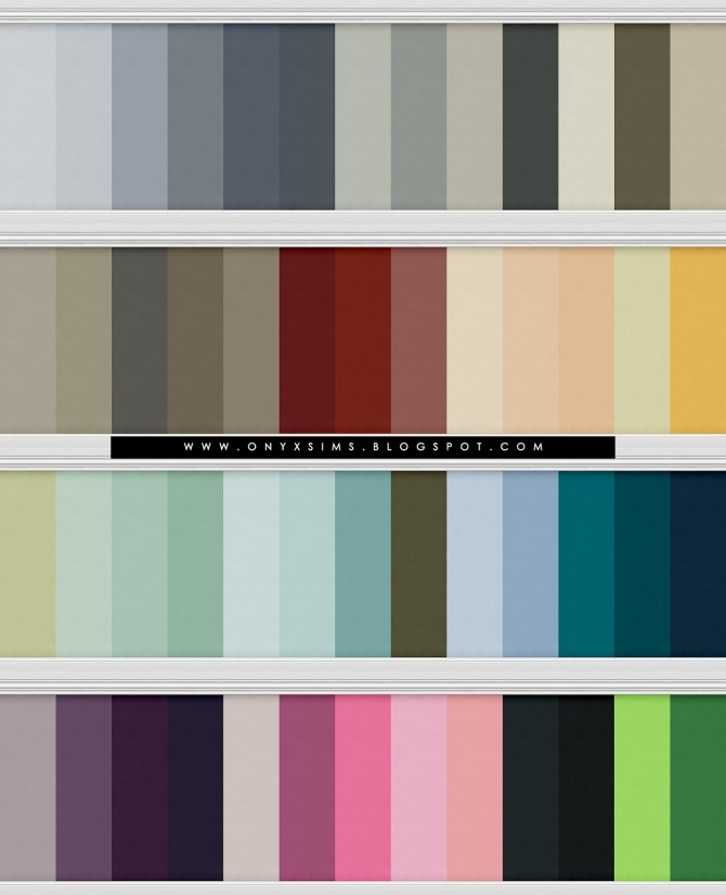 Graham Brown Simple Wall Paint Collection at Onyx Sims image 1582 670x825 Sims 4 Updates