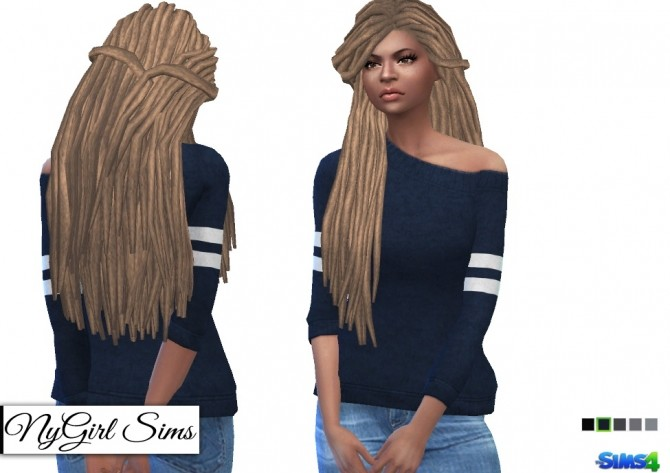 Off Shoulder Wool Sweater with Arm Stripe at NyGirl Sims image 1592 670x473 Sims 4 Updates