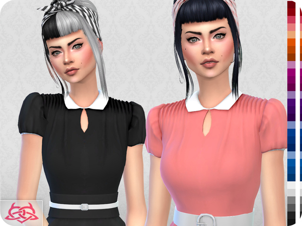 The Vanora Blouse RECOLOR 2 by Colores Urbanos at TSR image 1630 Sims 4 Updates