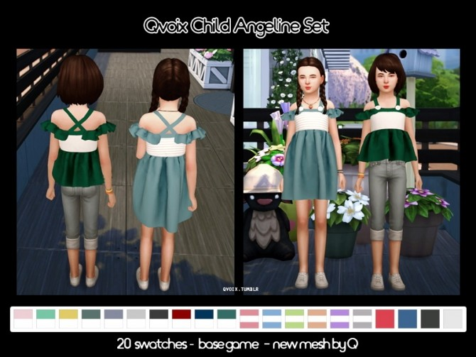 Angeline Set C at qvoix – escaping reality image 16410 670x503 Sims 4 Updates
