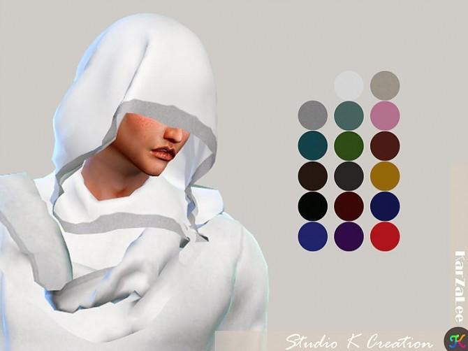 Sims 4 Dark Souls Mage of Kai top & hoodie hat at Studio K Creation