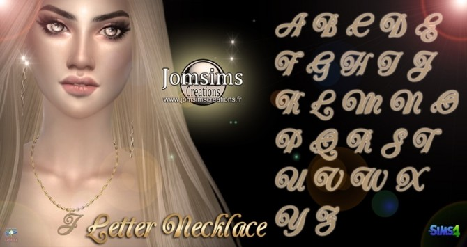 Sims 4 Letter necklace at Jomsims Creations
