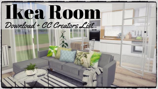 Ikea Kitchen + Livingroom at Dinha Gamer image 1678 Sims 4 Updates