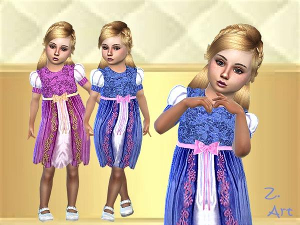 Sims 4 BabeZ 33 dress by Zuckerschnute20 at TSR