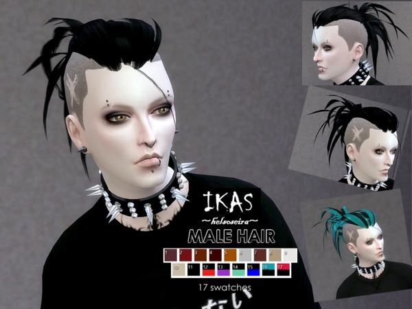 IKAS Hair style for MALE by Helsoseira at TSR image 1739 Sims 4 Updates