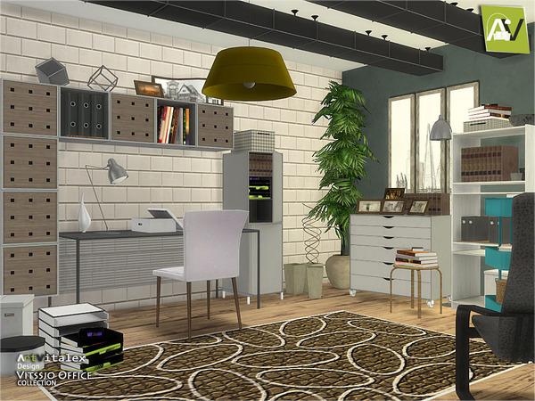 Vitssjo Office by ArtVitalex at TSR image 1816 Sims 4 Updates